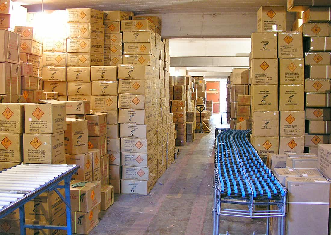 Firework Retailer Storage