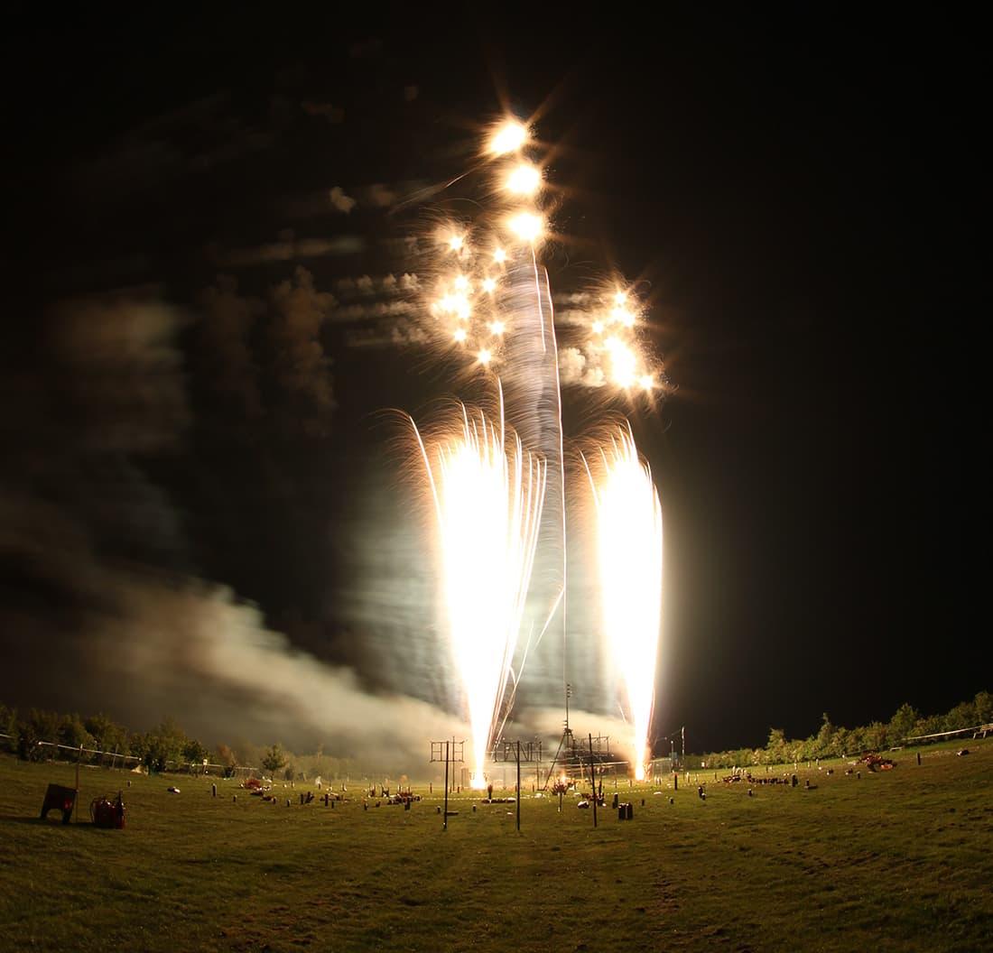 Loud fireworks