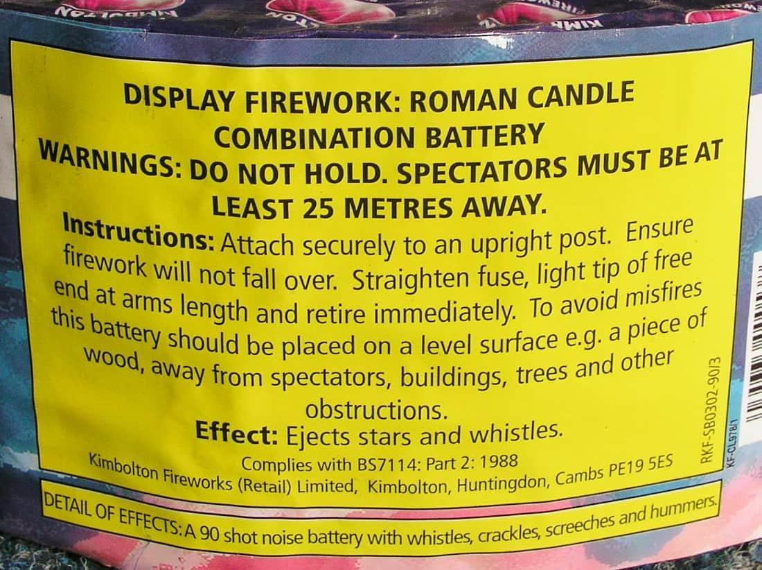 Old BS Fireworks Label