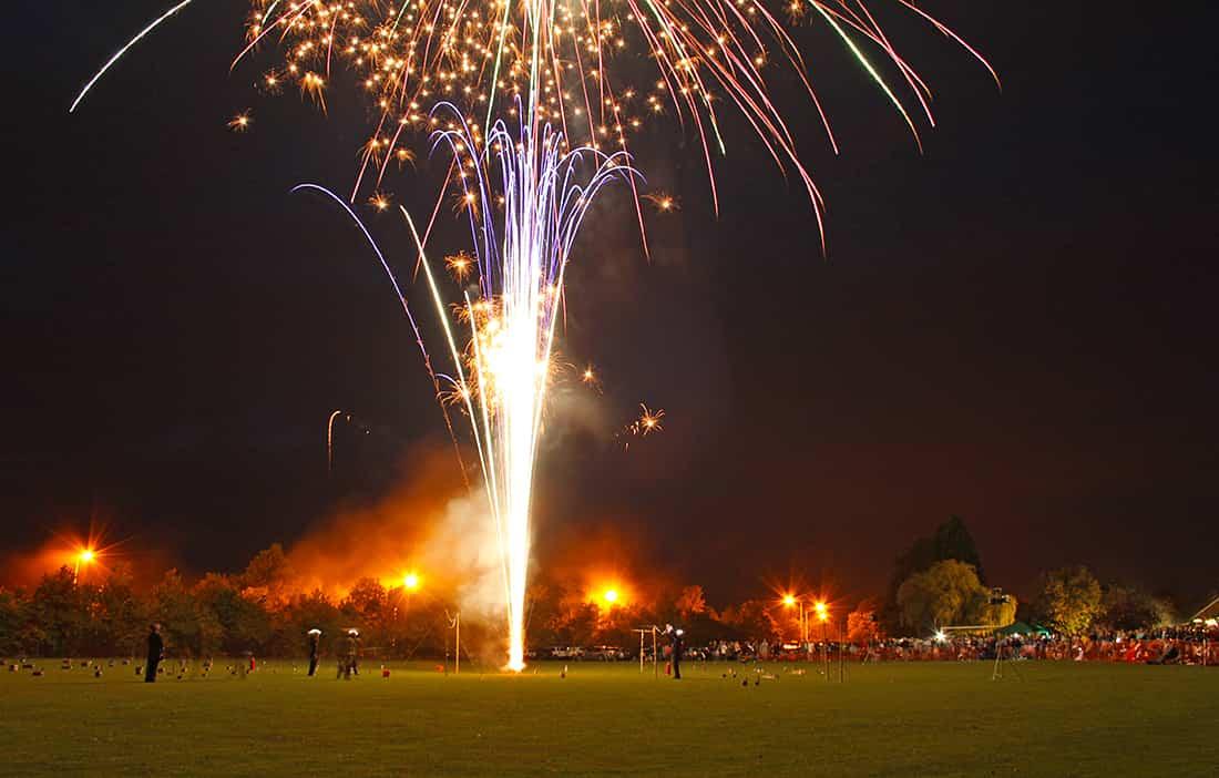 Big fireworks display