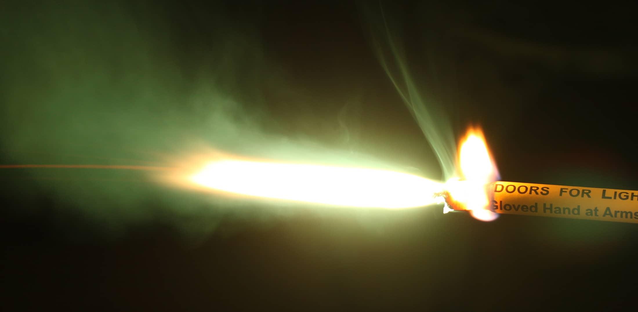 Portfire burning