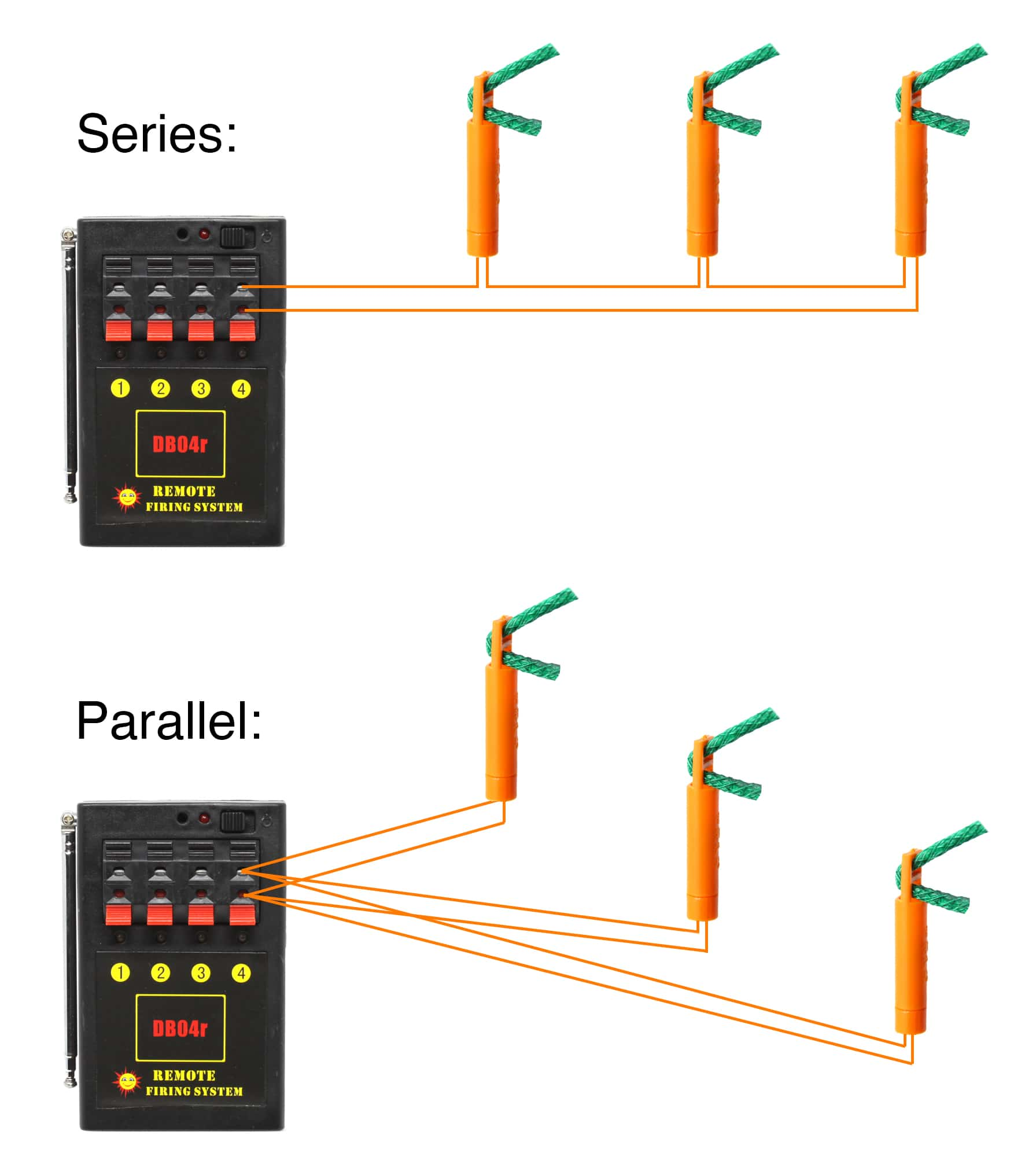 Series and parallel igniter wiring