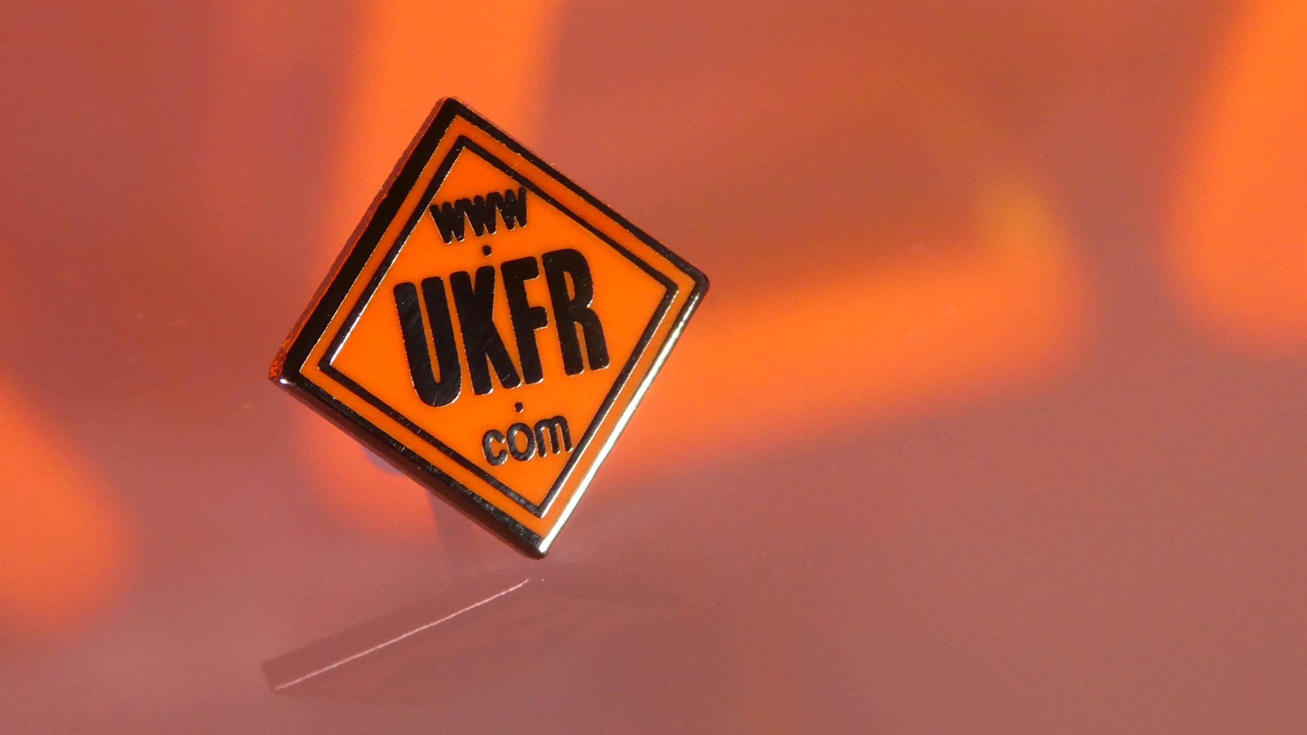 UKFR enamel pin badge
